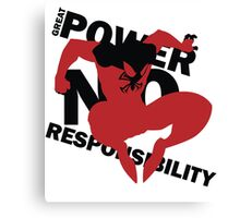 Scarlet Spider – Great power, no responsibility Canvas Print