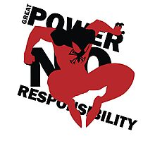 Scarlet Spider – Great power, no responsibility Photographic Print