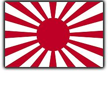 JAPAN, Imperial, Japanese, Army, War flag, WWII, Nippon, Kamikaze by TOM HILL - Designer