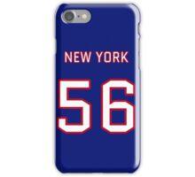 New York (Blue) Football (I) iPhone Case/Skin