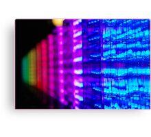 electronic rainbow Canvas Print