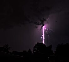 Lightning Crashes by Keith Irving