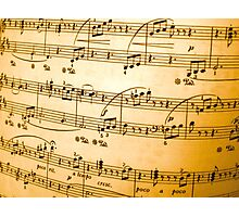 Music Sheet Photographic Print