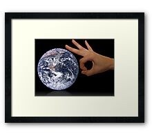 Earth care Framed Print