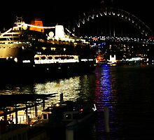 Circular Quay at night. by lu138