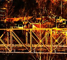"""Girders-Bridgework Trestle""  by Bruce Jones"