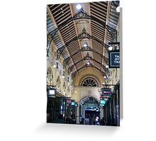 Melbourne arcade Greeting Card