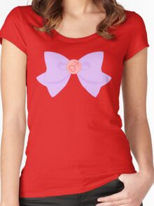 Pastel Sailor Mars Brooch and Bow Women's Fitted Scoop T-Shirt