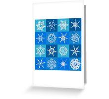 Snowflake Pattern Greeting Card