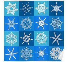 Snowflake Pattern Poster