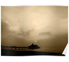 Sunrise At Eastbourne Pier Poster