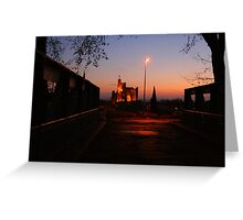 Floodlit church at Capestang France Greeting Card