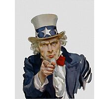 Uncle Sam Photographic Print