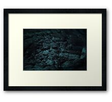 Blue Communication Framed Print