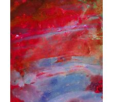 Sunset,  Fire Opal, Non Objective colourful art Photographic Print