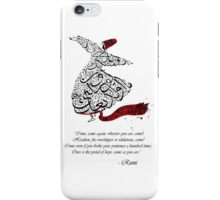 Rumi Quotes Calligraphy Watercolor  iPhone Case/Skin
