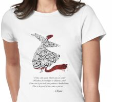 Rumi Quotes Calligraphy Vertical Womens Fitted T-Shirt