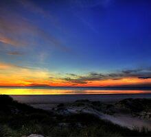 sand dune sunset by adouglas