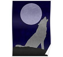 Howling Wolf Minimalist Poster