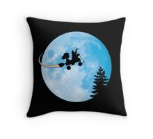 Taking Her to the Moon Throw Pillow
