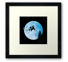 Taking Her to the Moon Framed Print