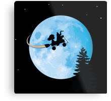 Taking Her to the Moon Metal Print