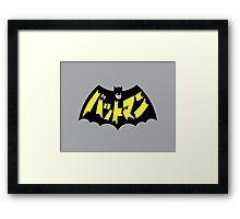 Retro Japanese Batman Framed Print