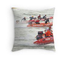 Racing at Penguin (30) Throw Pillow
