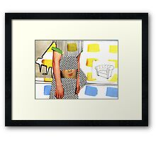 you need a kiss Framed Print