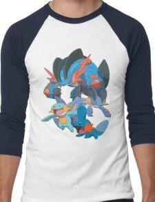 mudkip's family Men's Baseball ¾ T-Shirt