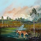 Where the wild dingos roam by Sandra  Sengstock-Miller