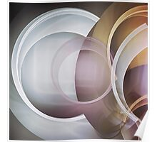 Playing with Circles, fractal abstract Poster