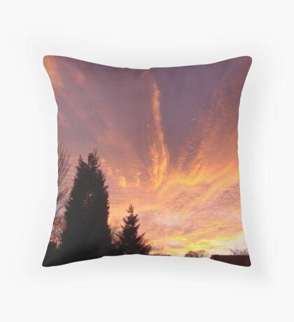 Red Sky At Night #3 Throw Pillow