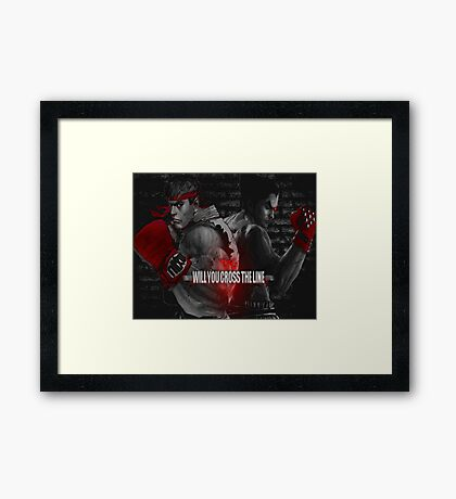 Will You Cross the Line Framed Print