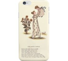LIttle Ann and Other Poems by Jane and Ann Taylor art Kate Greenaway 1883 0052 The Baby's Dance iPhone Case/Skin