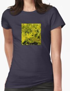 Neon Macro Succulent  Womens Fitted T-Shirt