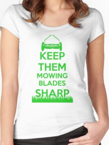 Keep Them Mowing Blades Women's Fitted Scoop T-Shirt