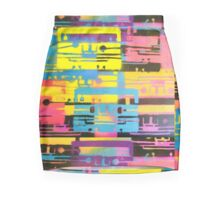 Rainbow Mixed Tape  Mini Skirt