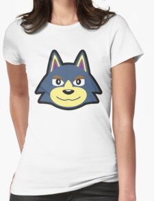 WOLFGANG ANIMAL CROSSING Womens Fitted T-Shirt