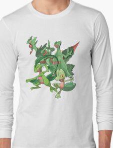 treecko's family Long Sleeve T-Shirt