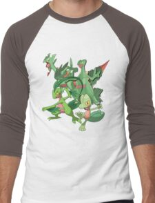 treecko's family Men's Baseball ¾ T-Shirt