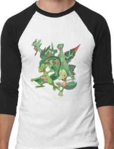treecko's family Men's Baseball ¾ T-Shirt