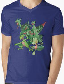 treecko's family Mens V-Neck T-Shirt