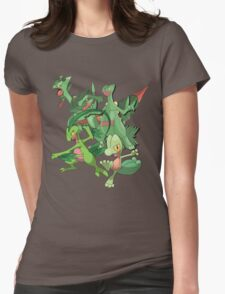 treecko's family Womens Fitted T-Shirt