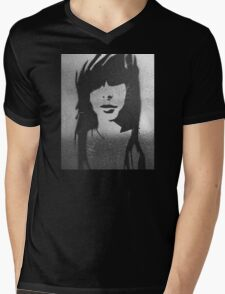 Shady Lady B&W Mens V-Neck T-Shirt