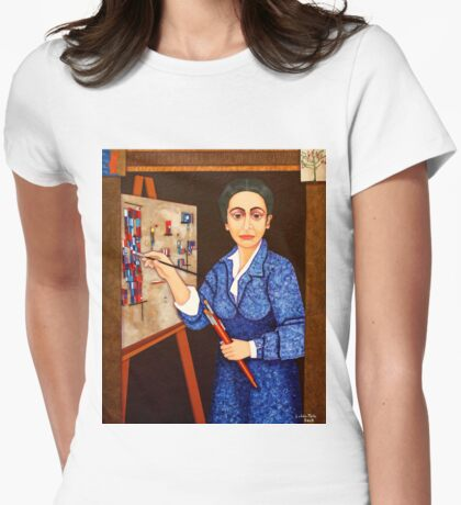 M. Helena Vieira da Silva - The dialogue between abstraction and figuration Womens Fitted T-Shirt
