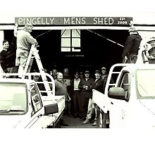 Pingelly Mens Shed, est 2009 Photographic Print