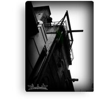 Cement Greenery Canvas Print