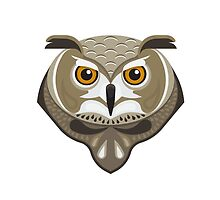 Graphic wild owl by Lightcome