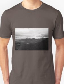 Blue Mountains in B&W Unisex T-Shirt
